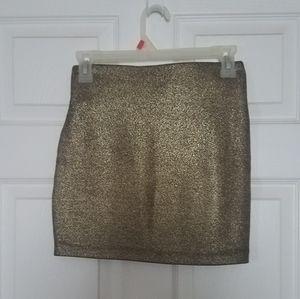 Bcbg gold mini skirt xs